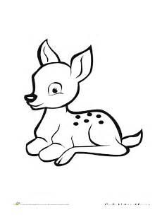 cerf dessin facile coloriage cerfs biches et faons sur hugolescargot