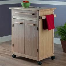 Kitchen Island Cart With Cabinets by Winsome Wood Single Drawer Kitchen Cabinet