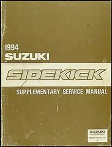 automotive repair manual 1989 suzuki sidekick free book repair manuals 1994 suzuki sidekick repair shop manual supplement original
