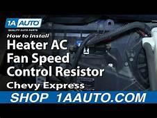 Chevy Astro Blower Resistor Diagnose/replace  Doovi