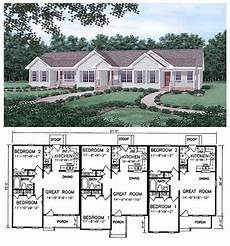 triplex house plans 24 best duplex single story ranch homes images on