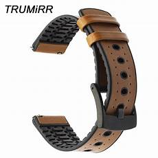 Color Genuine Leather Silicone by Genuine Leather Silicone Rubber Watchband For Fossil Q