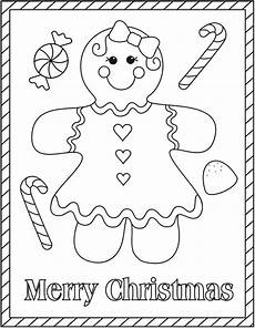 gingerbread coloring pages and print