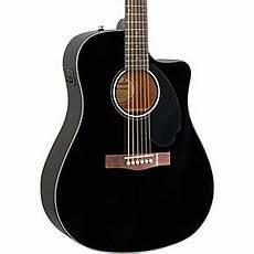 Fender Cd 60sce Dreadnought Acoustic Electric Guitar Black