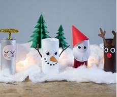 zu weihnachten mit klopapierrollen basteln 40