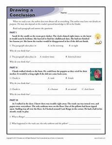 drawing conclusions worksheets for 4th grade summer learning drawing conclusions reading