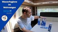 reinigen wassertank und wasserleitungen im wohnwagen