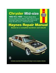 small engine repair manuals free download 1993 plymouth grand voyager parking system 1982 1995 chrysler mid size lebaron e class ny r 400 600 lancer haynes manual