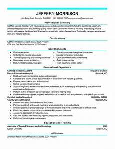 best medical assistant resume exle livecareer