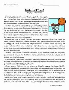 time worksheets 5th grade 3292 basketball time reading comprehension worksheet reading comprehension worksheets reading