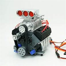 darkdragonwing 1 10 rc ohv v8 h rd engine painted