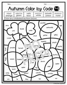 color by number fall coloring pages 18108 fall coloring pages parts of speech color by number by shelly rees
