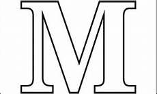 imprimir letra m recortar colorear plantilla alphabet coloring pages printable letters