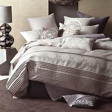 Doona Cover by Linen House Nadina Grey Jacquard King Quilt
