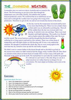 weather worksheets esl adults 14493 the changing weather interactive worksheet