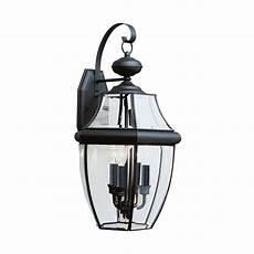 sea gull lighting lancaster extra large 3 light black outdoor wall lantern 8040 12 the