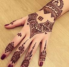 Desain Contoh Gambar Henna Mahendi Tangan Kaki Simple Cantik