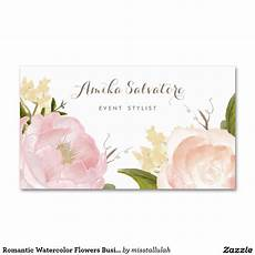 flower card design template watercolor flowers business card chic business