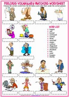 feelings esl printable vocabulary worksheets