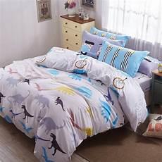 jurassic park bedding 100 cotton for kids bed sheet cartoon printed twill sheet set twin queen