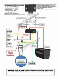 stator mod floating ground honda wave100 xrm110 solder rectifier
