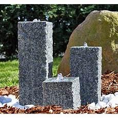 bastelideen für gartendeko clgarden granit springbrunnen sb2 3 teiliger s 228 ulenbrunnen steinbrunnen wasserspiel