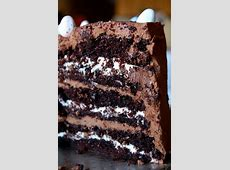 chocolate raspberry mocha layer cake_image