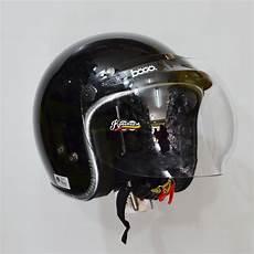 jual helm retro bogo fino new lis hitam glossy di lapak rodadua rodadua