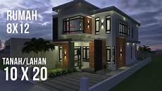 Desain Rumah 8x12 Di Lahan 10x20 Minimalis Modern