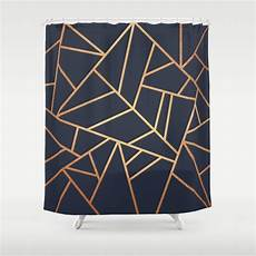 Navy And Gold Curtains by Copper And Midnight Navy Shower Curtain By