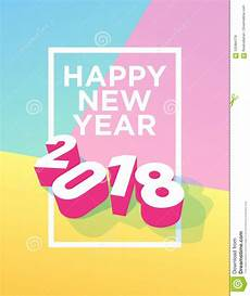 postcard template year 5 happy new year 2018 postcard with frame and pastel colours