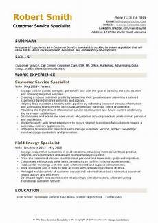 customer service specialist resume sles qwikresume