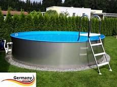 stahlwandpool rund günstig pool folien auskleidung poolleitern