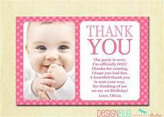thank you card template baby birthday birthday matching thank you card the big one diy