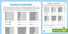 hundredths worksheet worksheet equivalent fractions decimals parts of