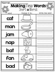 multiplication worksheets 4284 make new words by changing the beginning sound kindergarten literacy beginning