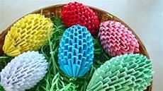 origami ostereier selber basteln ostern osterbasteln mit
