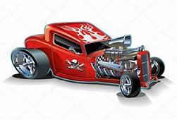 Vector Cartoon Hotrod — Stock &169 Mechanik 4242167