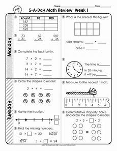 multiplication worksheets for third grade 4986 3rd grade daily math spiral review thrive
