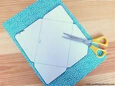 comment faire des enveloppes diy enveloppe 233 1 et 2 scrapbooking enveloppe