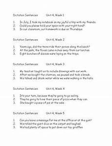 second grade dictation worksheets 3rd grade wonders dictation sentences six units 5 weeks each tpt
