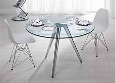 Kleiner Runder Glastisch - tonelli unity glass table glass dining tables