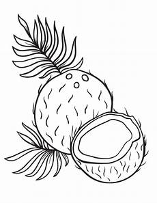 free coconut coloring page