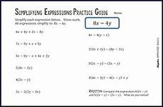 distributive property combining like terms practice guide tpt