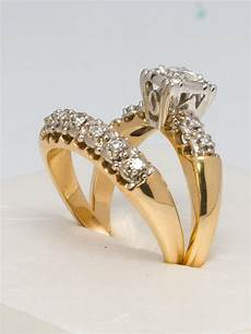 1950s yellow gold and diamond wedding ring for sale at