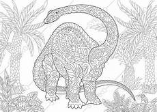 mandala malvorlagen dinosaurier coloring pages for adults brontosaurus diplodocus