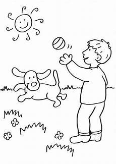 Ausmalbilder Junge Hunde Kostenlose Malvorlage Hunde Hund Spielt Zum Ausmalen