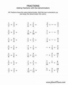 fraction worksheets like denominators 4000 4th grade adding fractions with the same denominator fractions worksheets subtracting