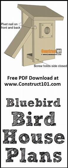 bluebird house plans pdf bluebird house plans free pdf download construct101 in