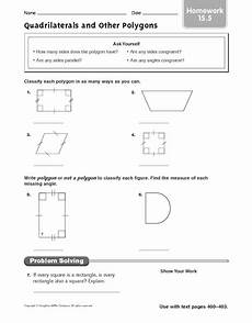 worksheets polygons and quadrilaterals 1025 quadrilaterals and other polygons homework worksheet for 5th 6th grade lesson planet